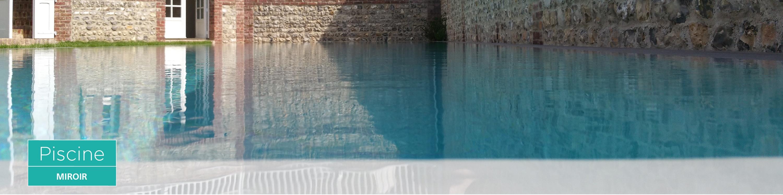 Everblue l inspiration la piscine miroir par everblue for Margelle piscine miroir