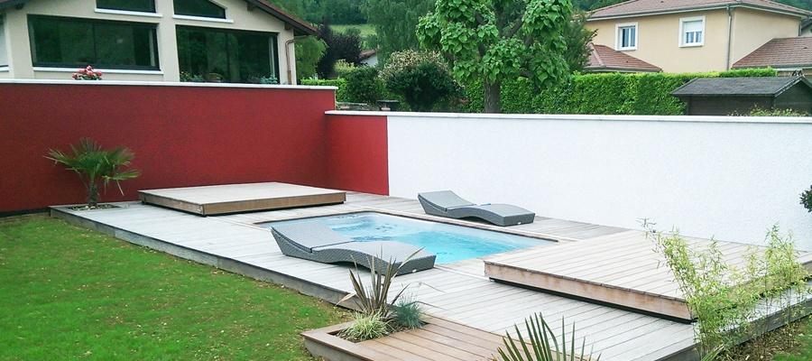 Petite piscine r alis e par koh piscines everblue for Piscine everblue